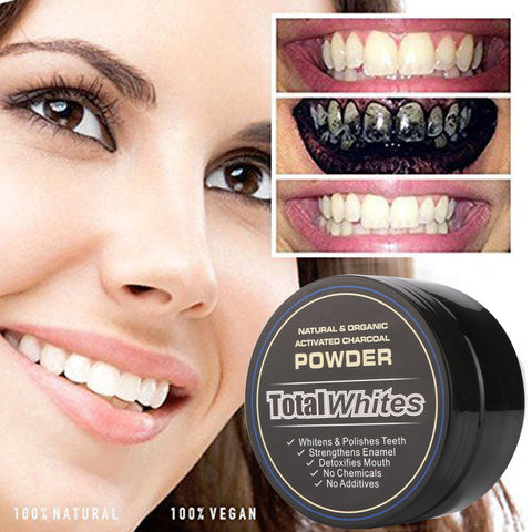 Natural Organic Activated Charcoal Bamboo Tooth Powder for Whitening Teeth