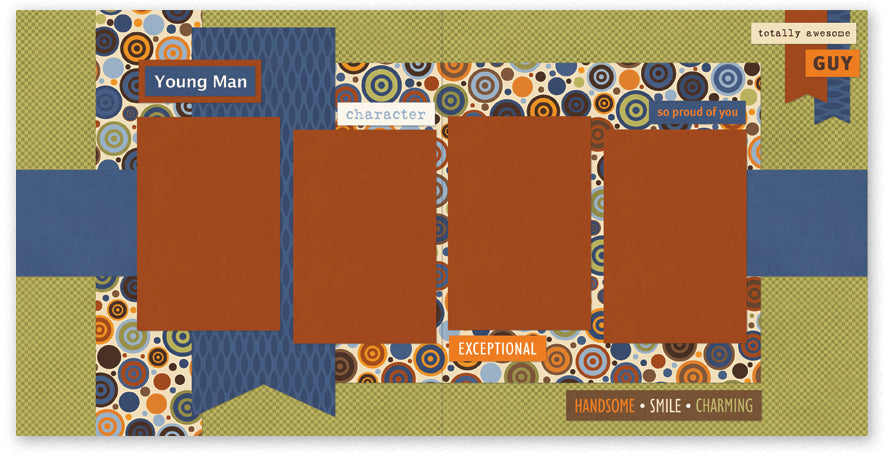 BUL502-Young Man Two Page Kit