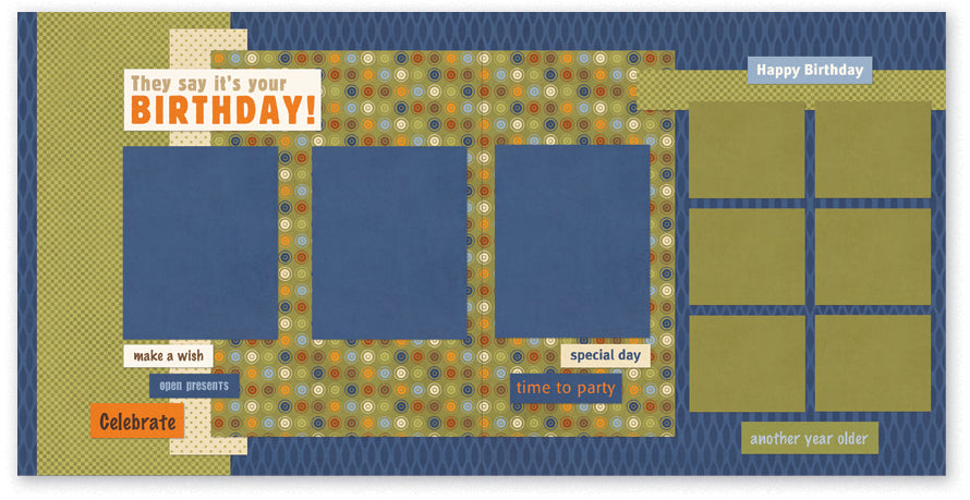 BUL508-It's Your Birthday Two Page Kit
