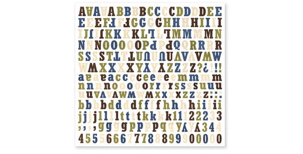 DU401-Dude Alphabet Sticker