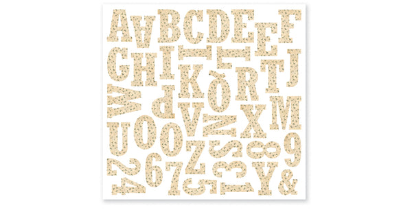 GH401-Ivy Monogram Alphabet Sticker