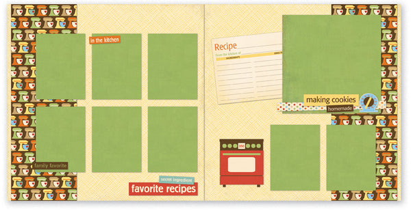 HC506-Homemade Cookies Two Page Kit