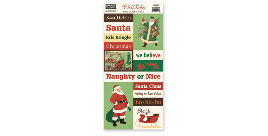 HJC206- Santa Claus Accessory Sheet