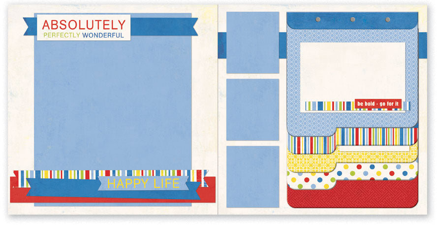 RA509-Wonderful Two Page Kit with Album
