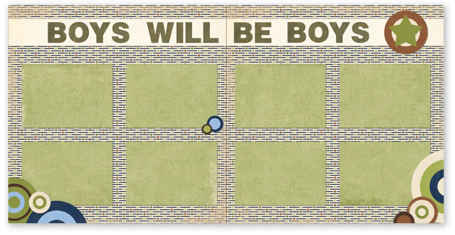 TZ516 - Boys Will Be Boys Two Page Kit