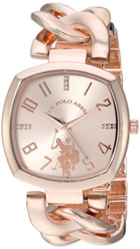 U.S. Polo Assn. Women's Analog-Quartz Watch with Alloy Strap, Rose Gold, 11 (Model: USC40251AZ)