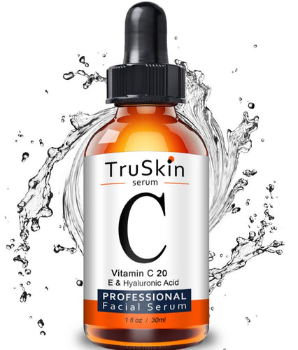 TruSkin Vitamin C Serum for Face, Topical Facial Serum with Hyaluronic Acid, Vitamin E - 50ml