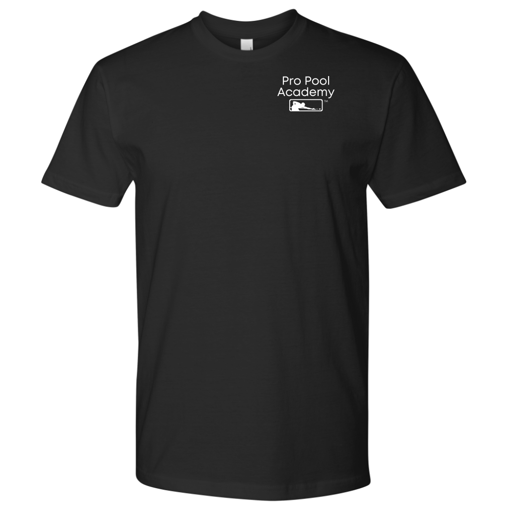 Pro Pool Academy front left chest Logo tshirt