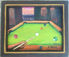 """Kick Shot"" Original Oil Painting by Mexican Artist Filipe Ruelas"