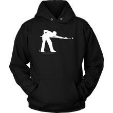 Pool Man Logo Hoodie TM (white logo on dark) - cuemax