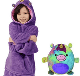 Ma Super Peluche Animaux en peluche Purple / 80cm Sweat Plaid enfant Pet Hoodie