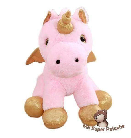 Image of Ma Super Peluche Rose Grosse licorne volante