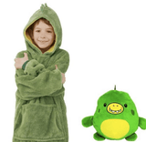 Ma Super Peluche Vêtements bébé Green / 80cm Sweat Plaid enfant Pet Hoodie