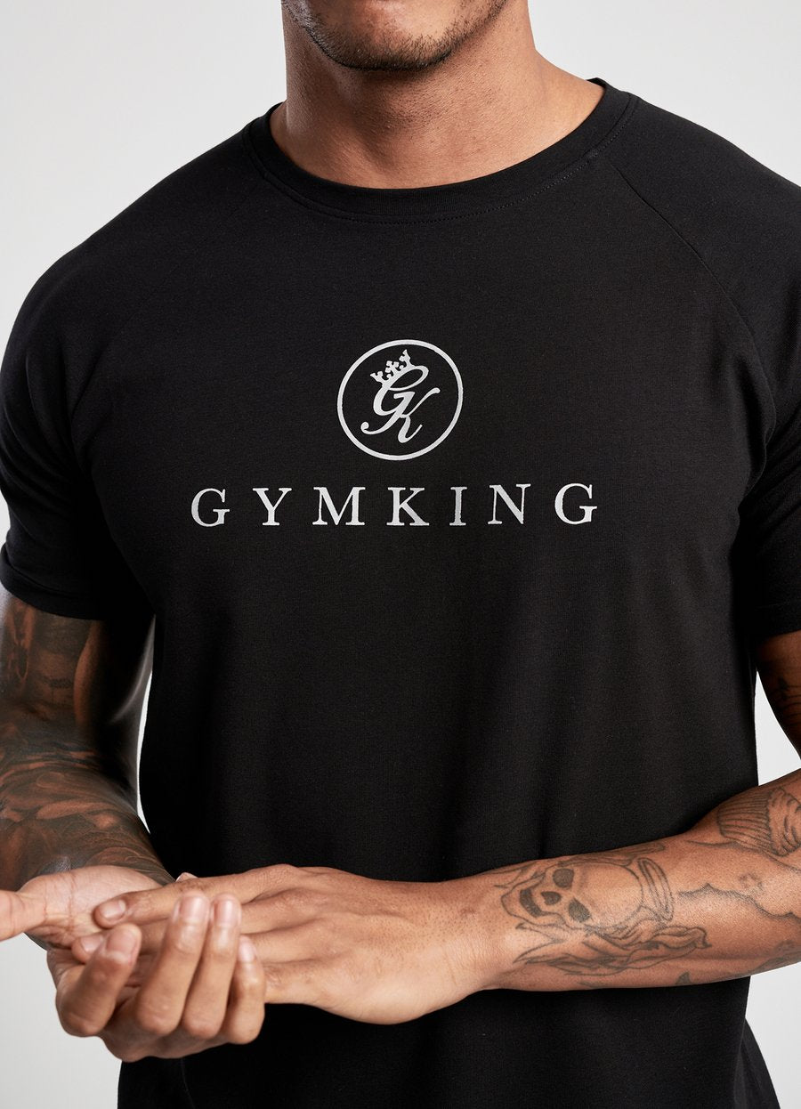 GYM KING SPORT LOGO TEE - BLACK