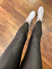 Biker Leggings Matt Black