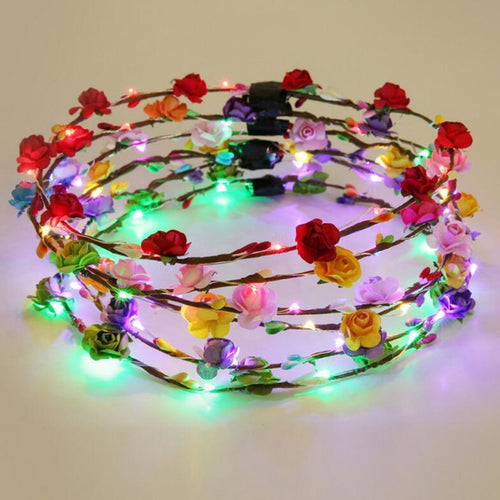 Flashing Flowery Headband