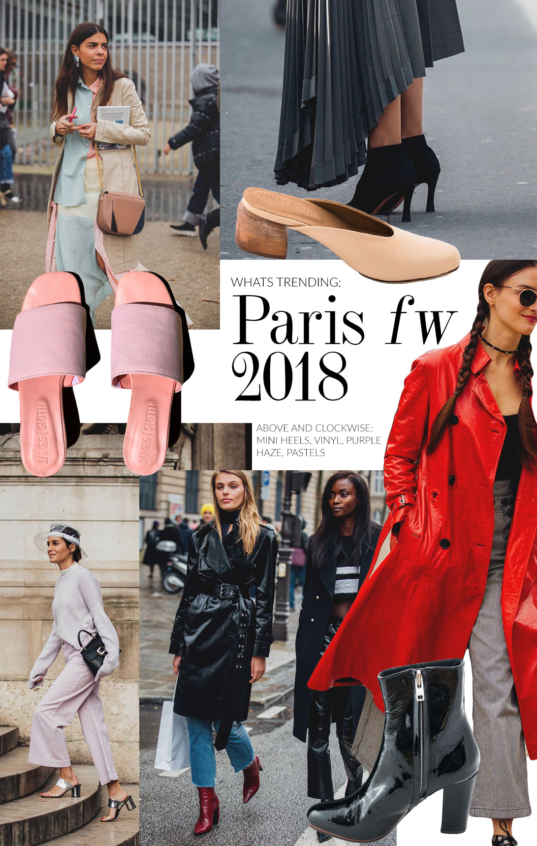 Parisian Fashion Trends for 2018 | Pastels and Vinyl | James Smith Slides