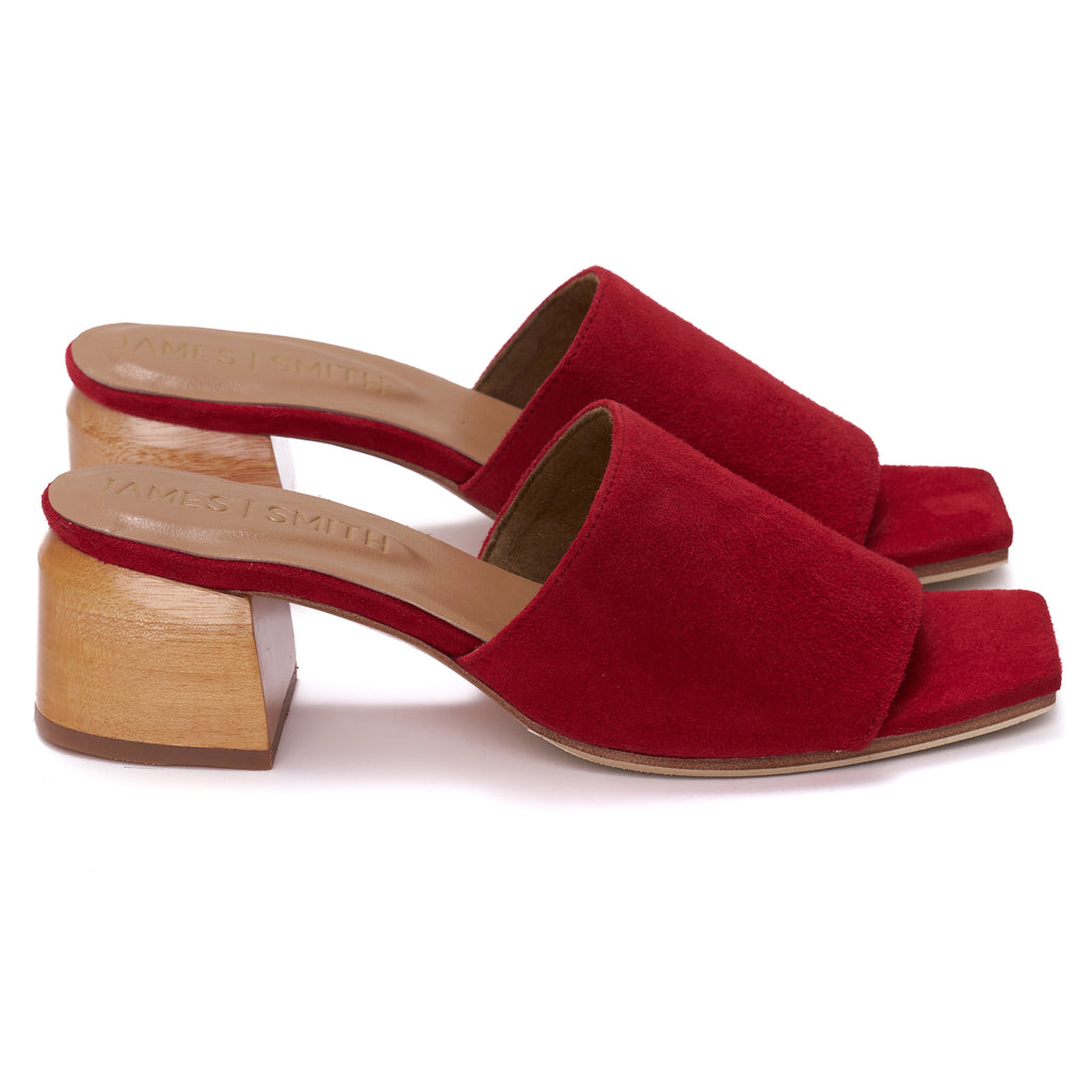 """THE SICILY SLIDE"" - RED SUEDE"