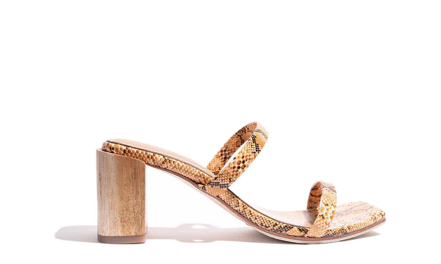 'Sirenuse Strap Sandal' - Orange Snake (Online Exclusive)