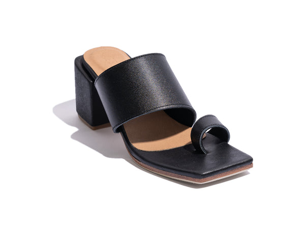 'FRANCO'S HEEL' - BLACK