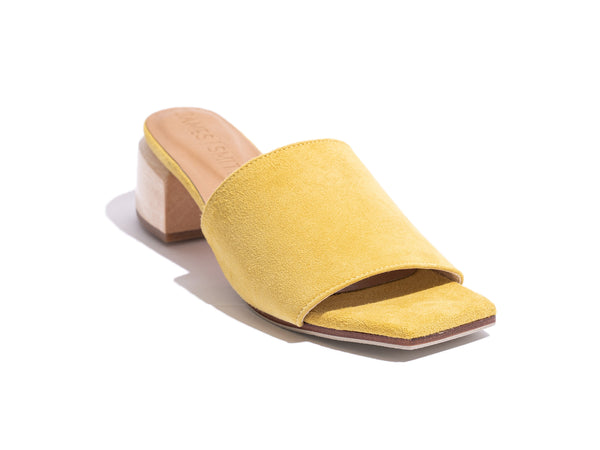 'THE SICILY SLIDE' - YELLOW SUEDE