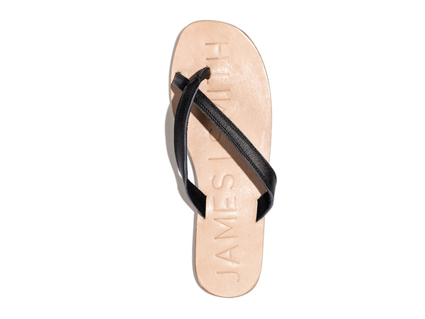 'SAN PIETRO SLIDE' - BLACK/NATURAL