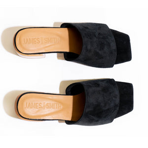 """THE SICILY SLIDE"" - BLACK SUEDE"