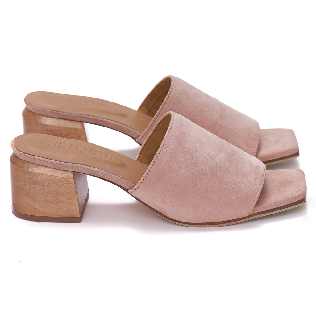 """THE SICILY SLIDE"" - PINK SUEDE"
