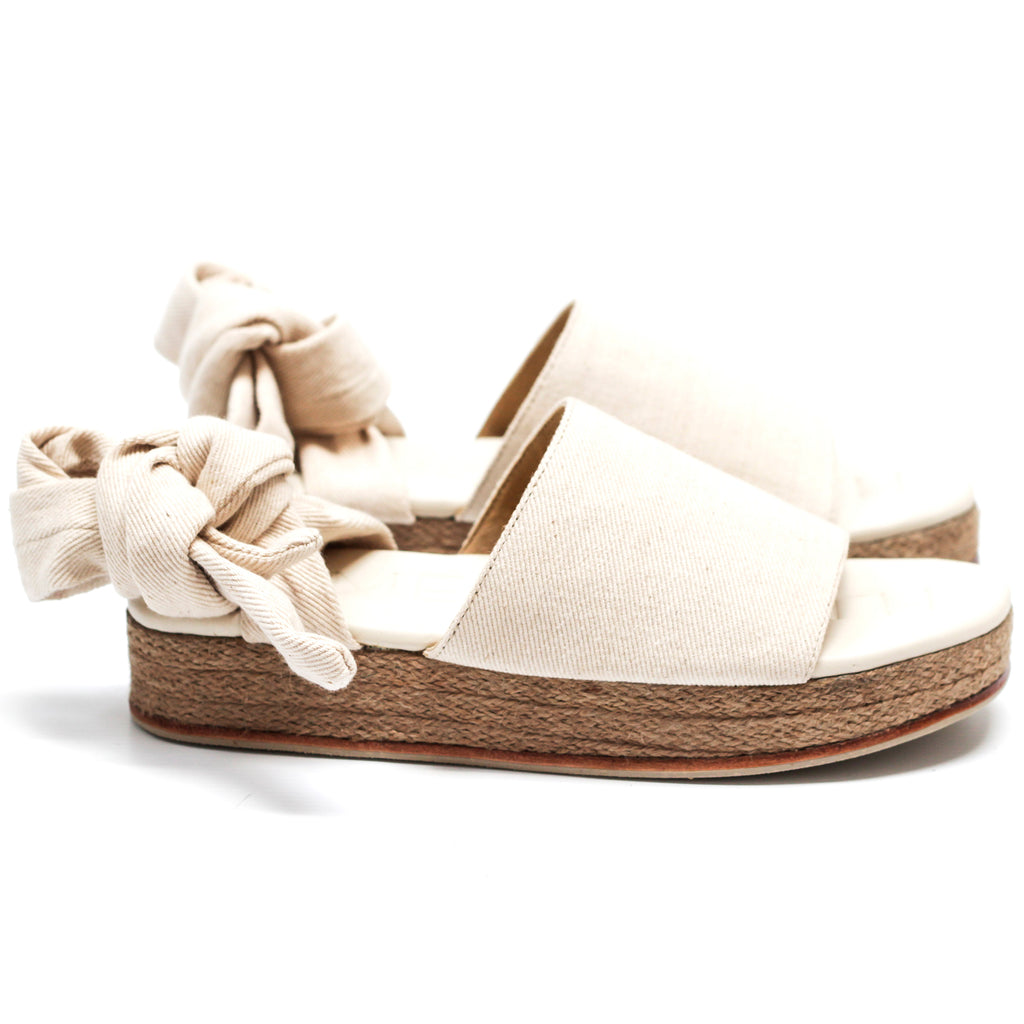 """THE WRAP ESPADRILLE"" - CREMA DENIM"