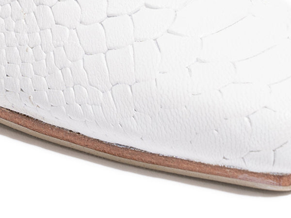 'Messina Mule' - White Croc