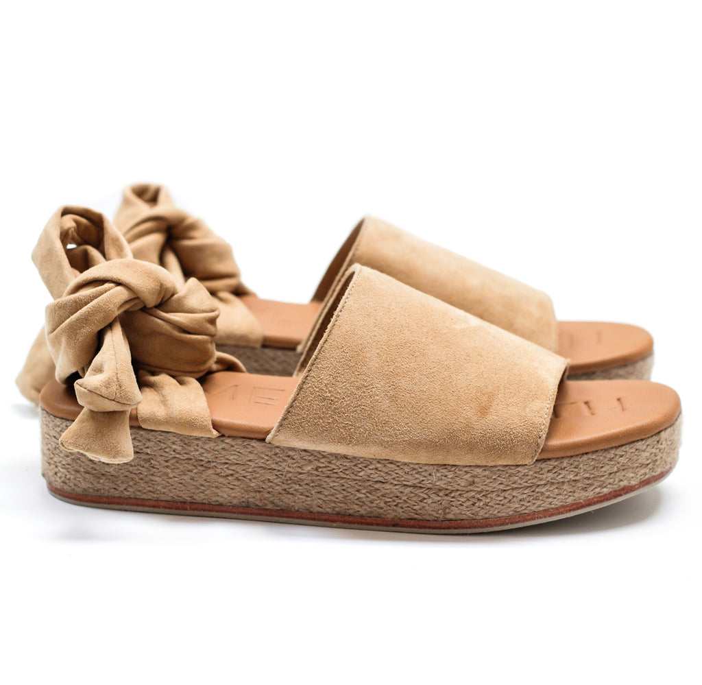"""THE WRAP ESPADRILLE"" - SAND SUEDE"