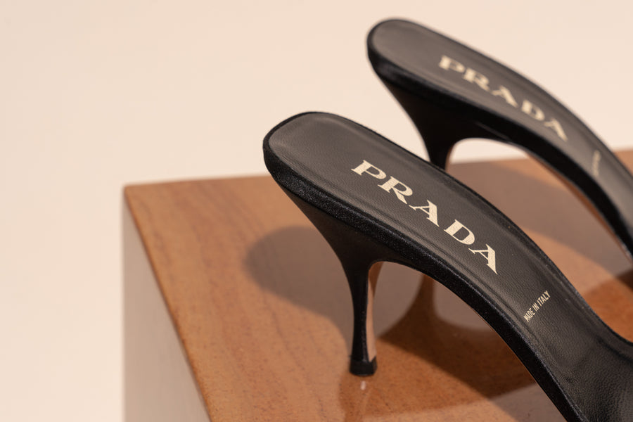 Prada Satin Cone Stiletto