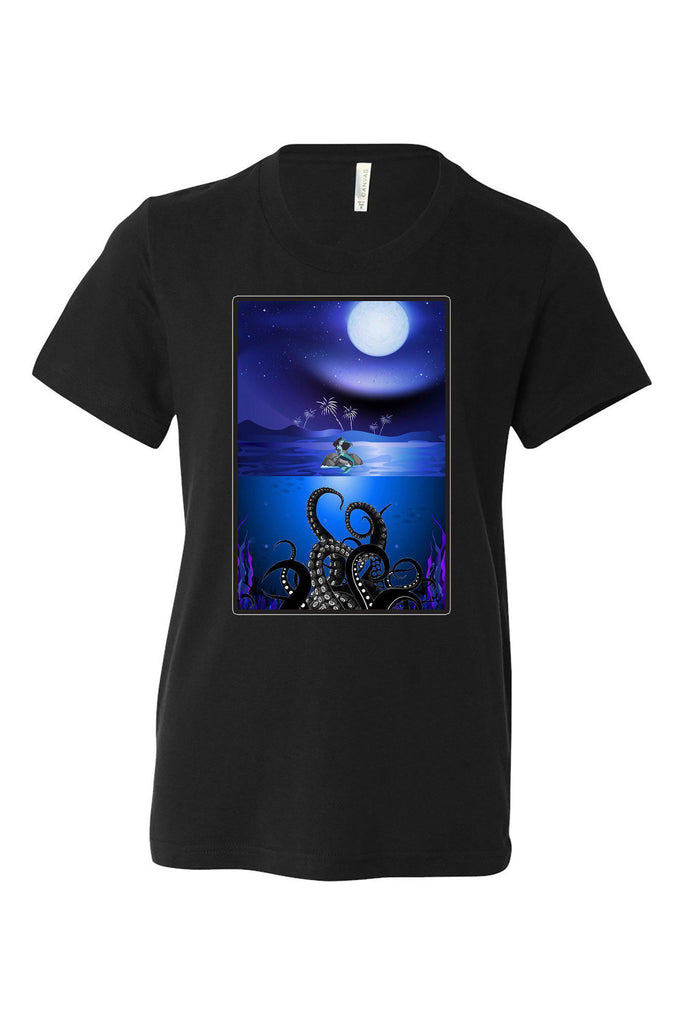 Poor Unfortunate Mermaid Kids Shirt | Haunted Mansion Shirts | Stretching Room Painting