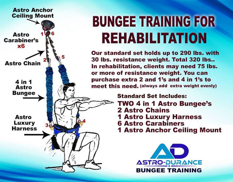 Astro Durance Rehabilitation Bungee Fitness Training System