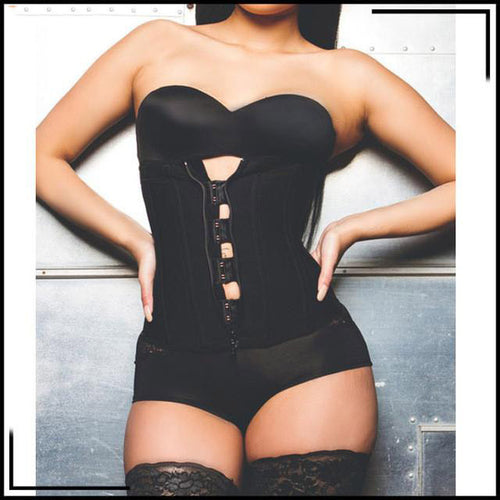 Corsets Underbust Zipper And Hooks  XS~6XL Plus Size