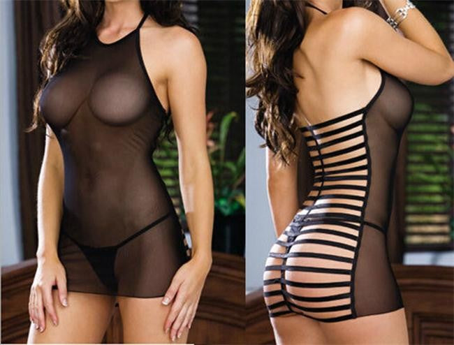 Sexy BabyDoll  See Through erotic lingerie - For Lovers Valentine Day gift