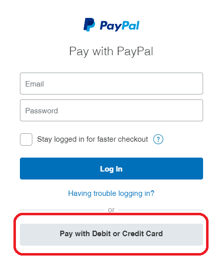 PayPal Guest Pay