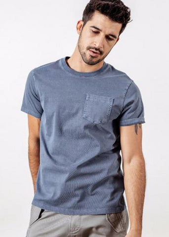 Casual Men's T-Shirt in Washed Black