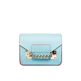 Genuine Leather Chain Mini Envelope Purse in White
