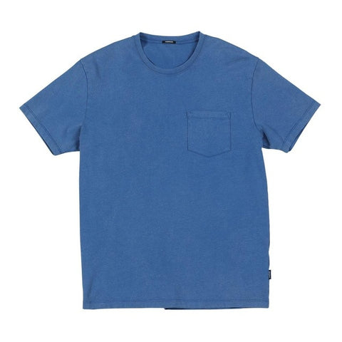 Cotton T-Shirt in Blue washed