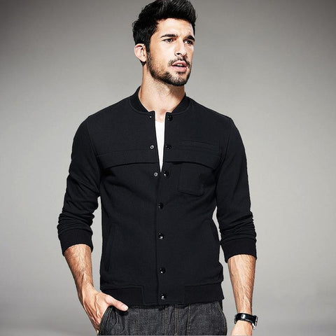Men's Casual Button Jacket