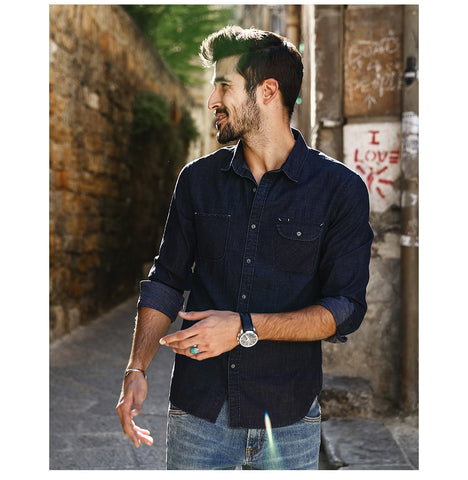Slim Fit Casual Denim Shirts