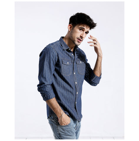 Casual Slim Fit Striped Shirt