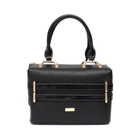 PU Leather Crossbody Purse in Black