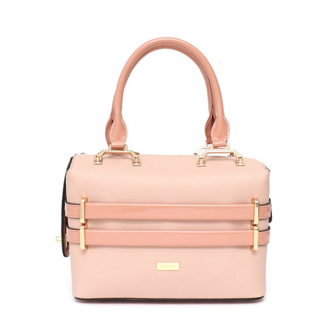 PU Leather Crossbody Purse in Blush Pink