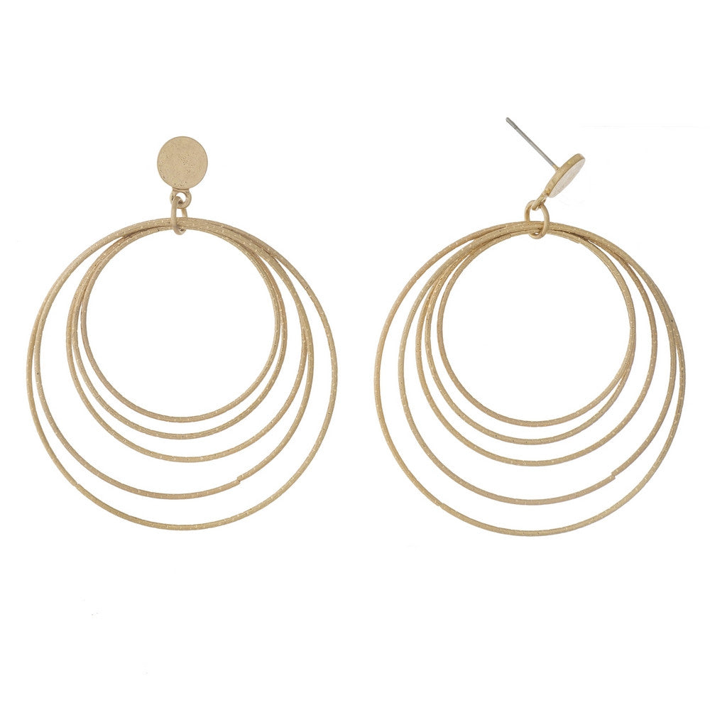 Gold Hoopla Earrings - L'Amour Chic Boutique