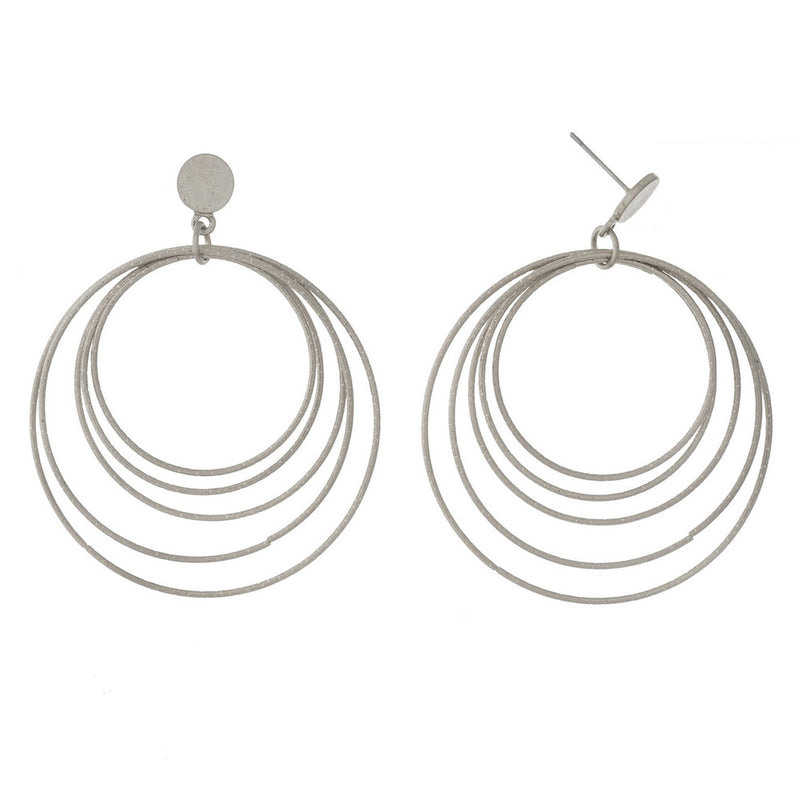 Silver Hoopla Earrings - L'Amour Chic Boutique