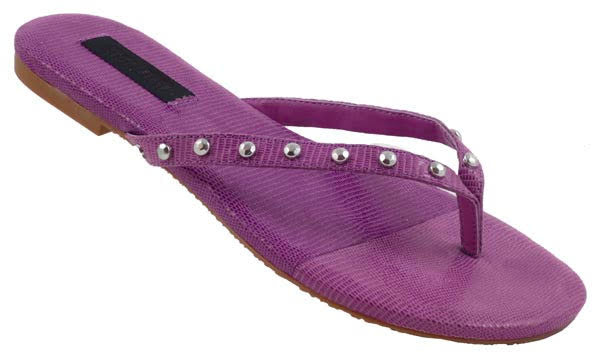 Simple Classic Thong Sandals, Purple - L'Amour Chic Boutique