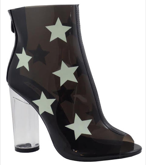 Cape Robbin Black Stars - L'Amour Chic Boutique