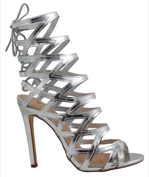 My My My Mirror Sandal Heels, Silver - L'Amour Chic Boutique